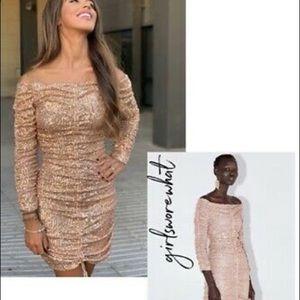 Zara draped sequin dress
